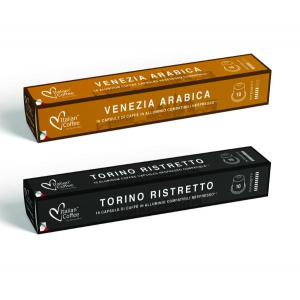 ITALIAN COFFEE® ALUMINUM capsules compatible with Nespresso Original*