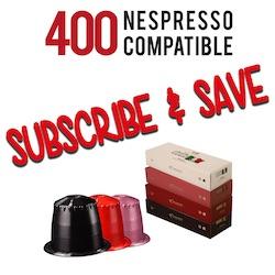 400 Nespresso Pods every Month