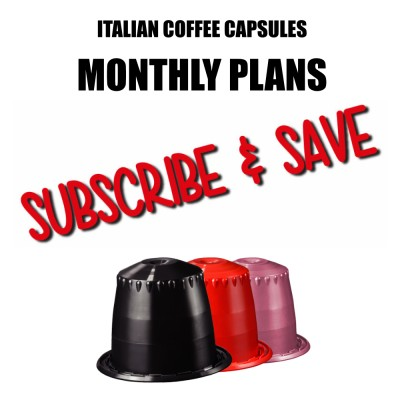 Capsules compatible with Nespresso* - Monthly Subscriptions