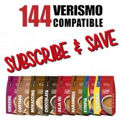 144 Verismo/CBTL Pods Every Month