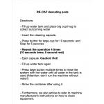 AXOR Descaling capsules for Nespresso Original machines*