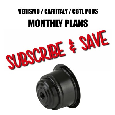 Verismo® / Caffitaly® / CBTL® compatible Monthly Subscriptions