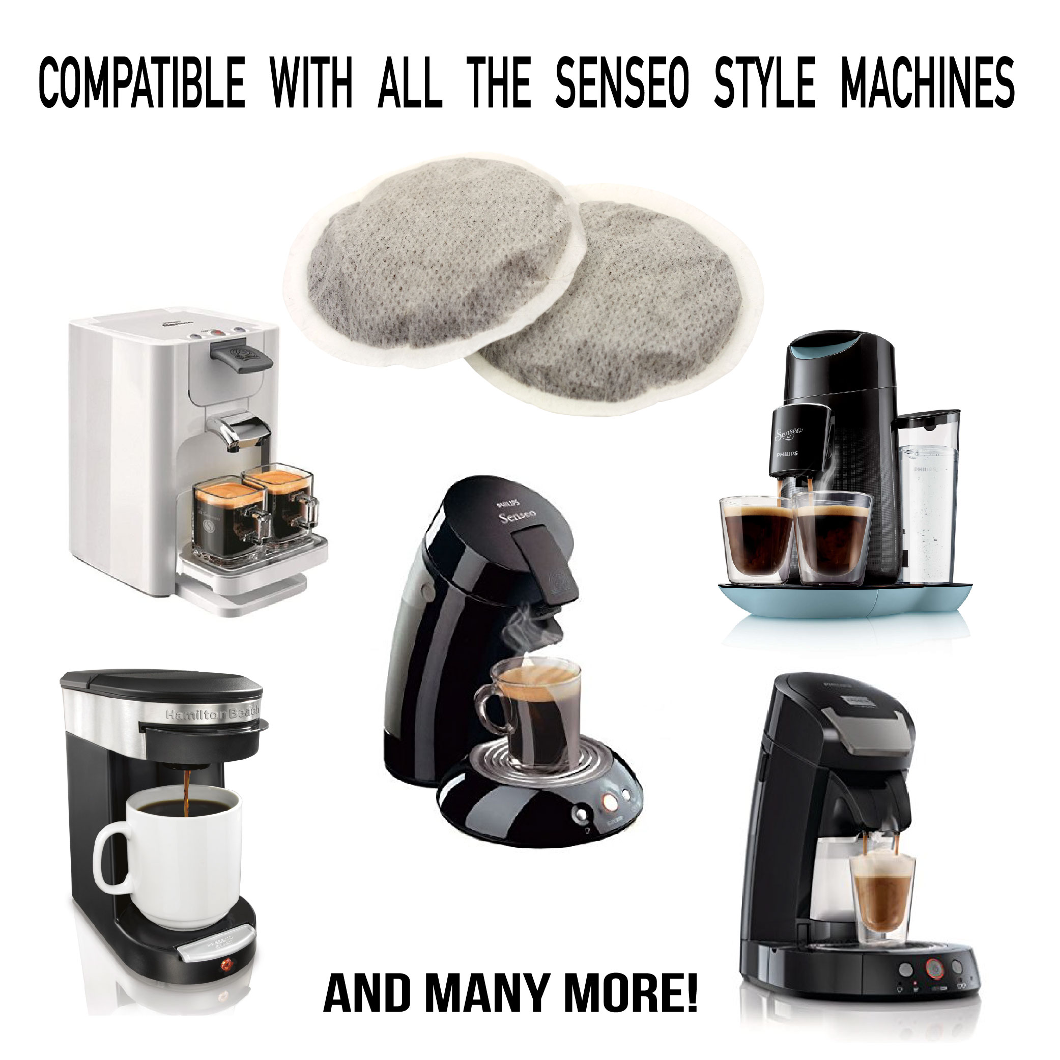 Details About 54 Pods Senseo Compatible Italian Coffee Pads Starter Pack Free Fast Shipping